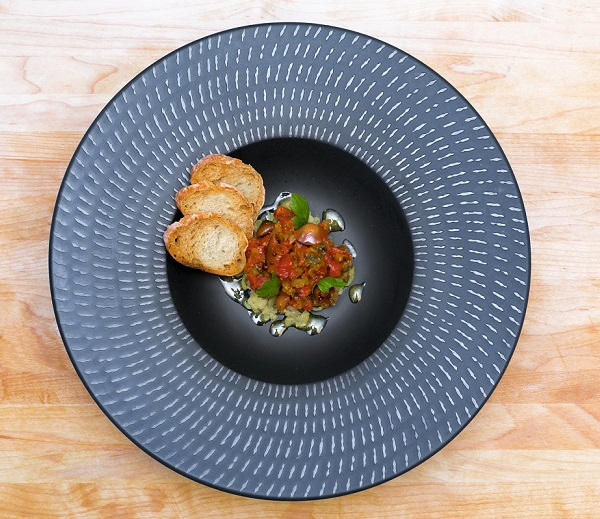 Asian-inspired grassfed beef tartare with frothed egg