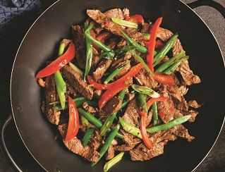 Aussie beef and lemongrass stir-fry