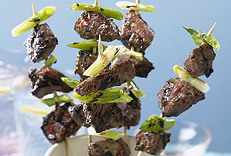 Australian Beef Satay Skewers with Papaya Relish
