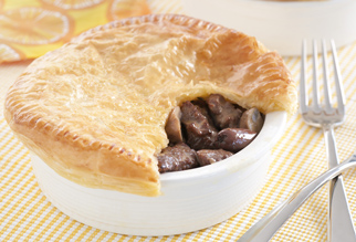 Beef Onion and Mushroom Pies