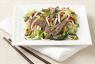 Beef, Vegetable and Noodle Stir Fry