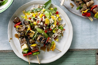 Cypriot-style Aussie beef and haloumi kebabs