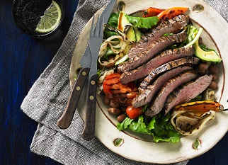 "American ""fiesta"" Aussie skirt steak salad"