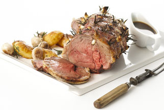 Garlic and rosemary roast leg of lamb