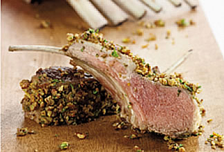 Parsley, Orange and Pecan Crusted Rack of Lamb