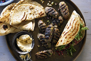 Spiced Aussie lamb and pistachio koftas