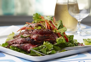 Sweet and sour thai grassfed beef salad