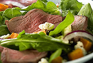 Warm Australian Lamb Salad with Sweet Potato