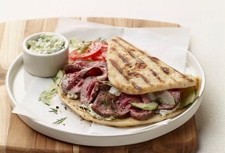 Weeknight Lamb Gyros with Tzatziki Sauce