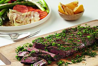 Beef Sirloin Steak with Grilled Vegetables