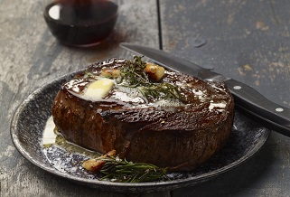 Chris Coombs '22-oz Big Boy ribeye steaks with herb butter