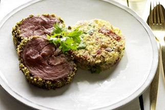 Date and Pistachio Crusted Lamb