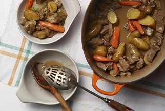Double-smoked lamb stew with craft porter gravy