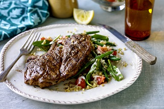 Syrian-spiced Aussie lamb chops with green bean salad