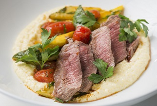 Aussie Lamb Loin with Goat Cheese Polenta