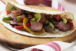 Australian Beef and Pepper Fajitas with Avocado Salsa