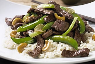 Australian Beef and Snap Peas with Cashews