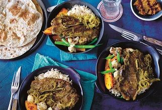 Indian green Aussie lamb curry