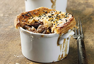 Lamb Mushroom and Beer Pot Pies