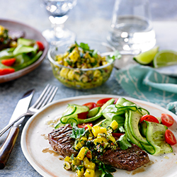Aussie Grassfed Steaks with Almond Mojo