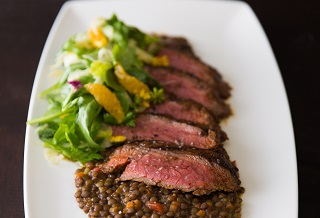 Baharat rubbed Aussie grassfed flank steak