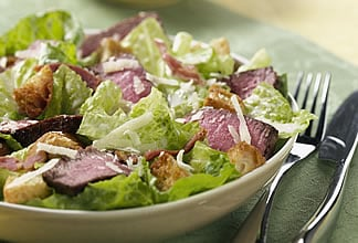 Diet Friendly Warm Australian Beef Caesar Salad